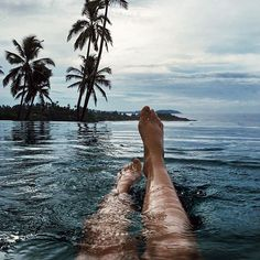 Stormy sunrise swims in beautiful Sri Lanka ☁️ #lifewelltravelled