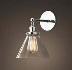 Vintage-Industrial-Modern-Contemporary-Glass-Sconce-Wall-Lights-shade-Edison