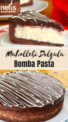 Çok Değişik Muhallebi Dolgulu Bomba Pasta Tarifi (videolu) - Nefis Yemek Tarifleri