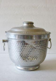 Vintage-Aluminum-Hammered-Ice-Bucket-Made-in-Italy-Retro-Mid-Century $10.99 + $10 shipping 1/16