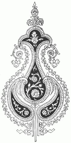 I have a thing for these intricate Indian textile patterns . My bedsheets, in fact, are covered in a fabulous paisley design. Textile Pattern Design, Textile Patterns, Textile Art, Textile Prints, Indian Prints, Indian Textiles, Paisley Design, Paisley Pattern, Embroidery Motifs