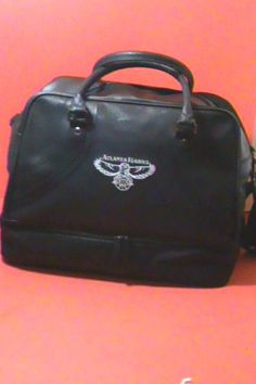 ATLANTA HAWKS Bowler Bag~Duffle Sports Bag~ Travel Bag~ Carry On ~Black #AtlantaHawksbyAirTexNorwood #BowlerBagDuffleSportsBagTravelBagCarryOn