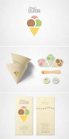 Branding and stationery for an ice-cream event to promote Fedrogoni's London Showroom, designed by Joe Stephenson.