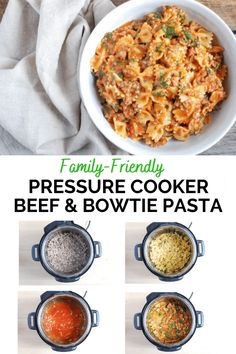 This family-friendly pressure cooker pasta has a rich, meaty sauce and a whopping 18 grams of protein per serving. Takes only minutes to cook! #realmomnutrition #sponsored #pressurecookerrecipes #pastarecipes #beefrecipes #familyfriendlydinner Pressure Cooker Recipes Pasta, Pasta Recipes, Beef Recipes, Dinner Recipes, Dinner Ideas, Beef Dishes, Crockpot Dishes, Lamb Dinner, Pasta Alternative