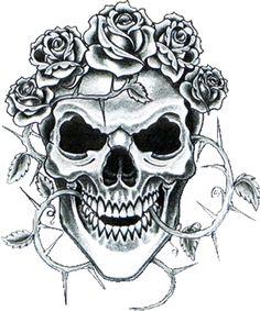skull rose tattoos rose tattoos and sugar skull on pinterest. Black Bedroom Furniture Sets. Home Design Ideas