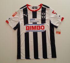 51404f1565e Men PUMA Rayados Monterrey Home Football Soccer Jersey 2015 White Blue 2xl  for sale online