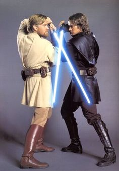 Obi-Wan Kenobi's and Anakin Skywalker's Lightsabers-Star Wars