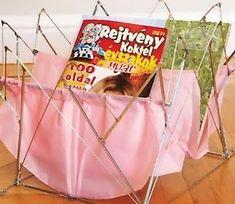 Old umbrella magazine organizer