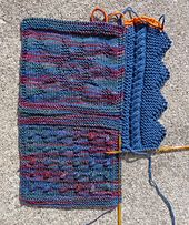 Ravelry: Pattern for a Knitted Border pattern by Deborah Cooke