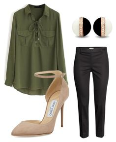 """""""gerord"""" by ananeevees on Polyvore featuring moda, WithChic, H&M e Jimmy Choo"""