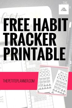 Use these free printable mini habit trackers to track multiple habits and daily goals in your bullet journal! Free Planner, Blog Planner, Printable Planner, Free Printables, Tracker Free, Mood Tracker, Bullet Journal Printables, Bullet Journal Layout, Seven Habits