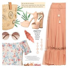 """""""Pretty pastels"""" by jan31 ❤ liked on Polyvore featuring Chloé, Hollister Co., Ermanno Scervino, BHCosmetics, Rebecca Minkoff, Maybelline and Alice + Olivia"""