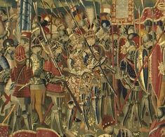 King Afonso V of Portugal and his son Prince João in 1471 during conquest of the Moroccan city of Asilah / Arzila, strategically located near the Strait of Gibraltar. (Pastrana Tapestries)