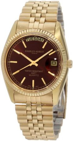 Men's Wrist Watches - CharlesHubert Paris Mens 3400OH Classic Collection  Watch *** Click image for more details.