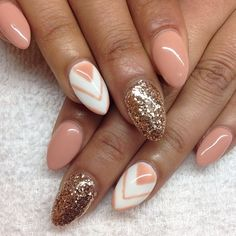 Almond nails So gorgeous! Could do a lighter/more sheer glitter for work :)