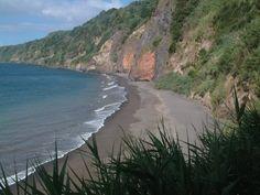 Estadias para férias ( Açores , Portugal ) : Fotos da Ilha de São Miguel ( Notificações ) , Esta maravilhosa Praia da Amora Ponta Garça