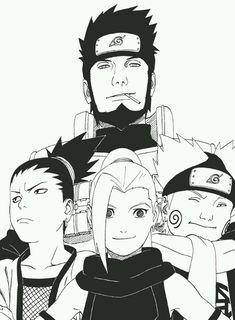 Asuma, Shikamaru, Ino and Chocji