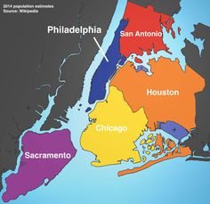 """These maps shows just how """"yuge"""" New York City is compared to other states and cities worldwide. 