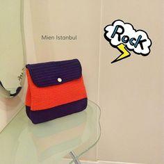 Siz renginizi seçin, biz sırt çantanızı sizin için özel hazırlayalım ✌ #turuncu #mor .  www.mienistanbul.net  Siparişinizi kişiselleştirin! Bizimle iletişime geçin boyut, renk ve aksesuarlara birlikte karar verelim.. *Yapımında kullanılan ip yaz/kış için uygundur.  #mienistanbul #örgü #knitting #tığişi #crochet #elişi #elyapımı #elsanatları #örgüçanta #çanta #aksesuar #moda #fashion #tarz #style #tasarım #design #kadınmodası #womensfashion #onlinealışveriş #hediyefikirleri #DIY #yarnlove…