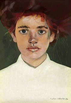 Peter Blake (British, b. Girl Fairy I, Oil on canvas board, 7 x 5 in. People Illustration, Illustration Art, Pop Art, Peter Blake, Watercolor Portraits, Watercolour, Found Art, Art Auction, Figure Painting