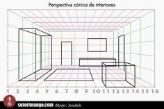 Sutori: Dibujo de escenarios #3 - Perspectiva de interiores