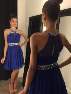 Sparkly Prom Dress, royal blue homecoming dress chiffon halter homecoming dress short homecoming dress best homecoming dress dresses for homecoming Ball Gown Prom Royal Blue Homecoming Dresses, Cheap Homecoming Dresses, Royal Blue Dresses, Cheap Dresses, Graduation Dresses, Dress Prom, Halter Dresses, Dresses 2016, Chiffon Dresses