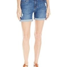 Liverpool Jeans Company Women's Vickie Short Rolled-cuff In Stretch Peached Twill Liverpool Jeans, Skirt Pants, Bermuda Shorts, Yoga, Skirts, Clothes, Fashion, Outfit, Clothing