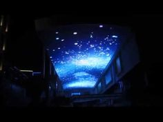 Amazing LED Ceiling Video Display for Shopping Mall,  LED screens on cei... Led Wall Panels, Led Display Screen, Hookah Lounge, Ceiling Detail, Office Setup, Screen Design, Stage Design, Led Ceiling, Shopping Mall