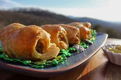 Irish Sausage Rolls are made with Irish sausage rolled in a blanket of golden brown pastry dough. A fun and tasty recipe to celebrate St. Irish Sausage, Biscuit Sandwich, Puff Pastry Sheets, How To Make Sausage, Tasty, Yummy Food, Sausage Rolls, Fennel Seeds