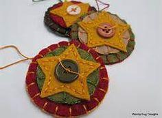 felt folk art christmas ornaments - Bing Images
