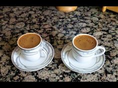 Türk Kahvesi Nasıl Yapılır? Bol Köpüklü Türk Kahvesi how to make turkish coffee? bon appetit - YouTube Bon Appetit Youtube, Turkish Kitchen, Turkish Coffee, Tea Cups, Canning, Tableware, How To Make, Dinnerware, Tablewares