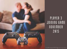 birth announcement i did since we are gamers