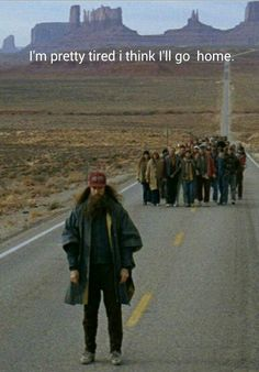 I'm tired, I think I'll go home now. Yep, I think so. 90s Movies, Iconic Movies, Great Movies, Movie Tv, Forrest Gump Quotes, Forrest Gump 1994, Tom Hanks, Tv Show Quotes, Movie Quotes