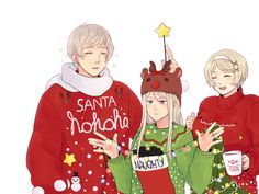 Hetalia - Russia,Belarus and Ukraine❤