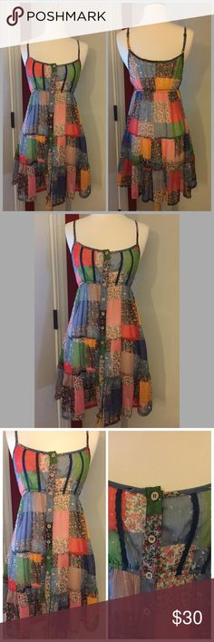 Patchwork Sheer Dress Patchwork Sheer Dress, size medium. This dress is sheer, I would personally wear a slip of some type under this... I am modest. I think it could also be worn as a tunic. 😊 This piece is gorgeous and the pictures didn't do it justice. See other pics for appropriate measurements and more details. Blue Bird Dresses