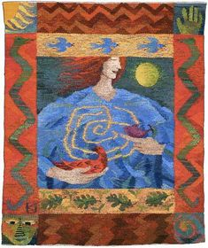 Turning Point, a tapestry weaving by Kirsten Glasbrook