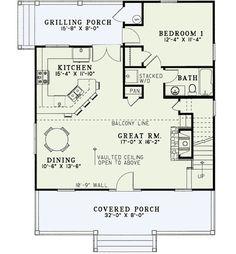 Creekside Cottage - 59156ND floor plan - Main Level