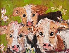 Deborah Donnelly - Duke Street Art Ltd Oil Painting Texture, Painting Art, Cupcake Images, Street Gallery, Vivid Imagery, Farm Yard, Cows, Farm Animals, Kitsch