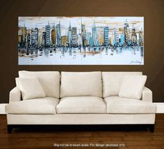 golden city abstract painting by jolina anthony