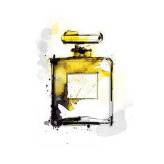 Fashion illustration by Lotta Larsdotter: Perfume