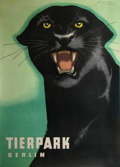 Vintage zoo poster. No artist attribution.