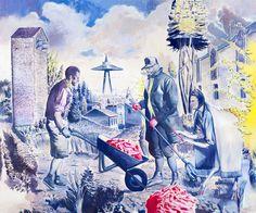 Neo Rauch, Die Fuhre, 2013, Oil on canvas