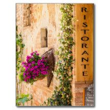Italian Restaurant Post Card - $0.93