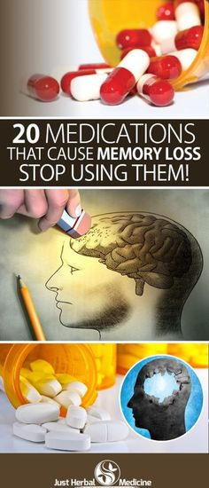 20 Medications That Cause Memory Loss,Stop Using Them
