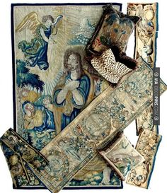 Amazing - Fabulous 1600s to 1800s woven French tapestry panels, fragments, down-filled pillows just waiting to be made up. Photo credit: Antiques & Uncommon Treasure | CHECK OUT MORE TAPESTRY IDEAS AT DECOPINS.COM | #tapestry #tapestry #tapestries #wallrugs #wallhangings #homedecor #homedecoration #decor #livingroom #walls
