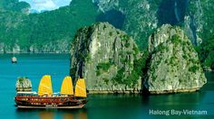 A natural wonder of the world and one of Vietnam's five UNESCO World Heritage Sites,lies 160km to the east of Hanoi. Over three thousand jagged limestone islands emerge from the emerald green waters of Halong Bay. Most of the islands are clothed in thick green vegetation and ring with the sound of bird song in the early morning.