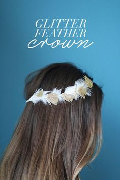 Glitter feather crown DIY