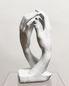 Rodin's 'Cathedral' Clasping Hands Sculpture by Alva Studios Studio C, Hand Sculpture, Hand Shapes, Rodin, Sketching, Ballet Shoes, Cathedral, Design, Decor