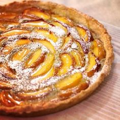 Peach and Pistachio Tart. 'Tis good! - Gina DePalma