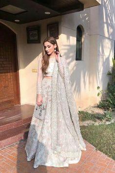 Desi Wedding Dresses, Pakistani Wedding Outfits, Pakistani Bridal Wear, Party Wear Dresses, Bridal Dresses, Pakistani White Dress, Beautiful Pakistani Dresses, Pakistani Dresses Casual, Pakistani Dress Design